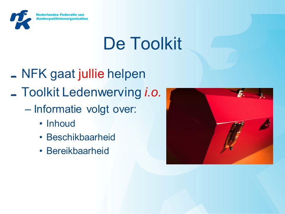 De Toolkit NFK gaat jullie helpen Toolkit Ledenwerving i.o.