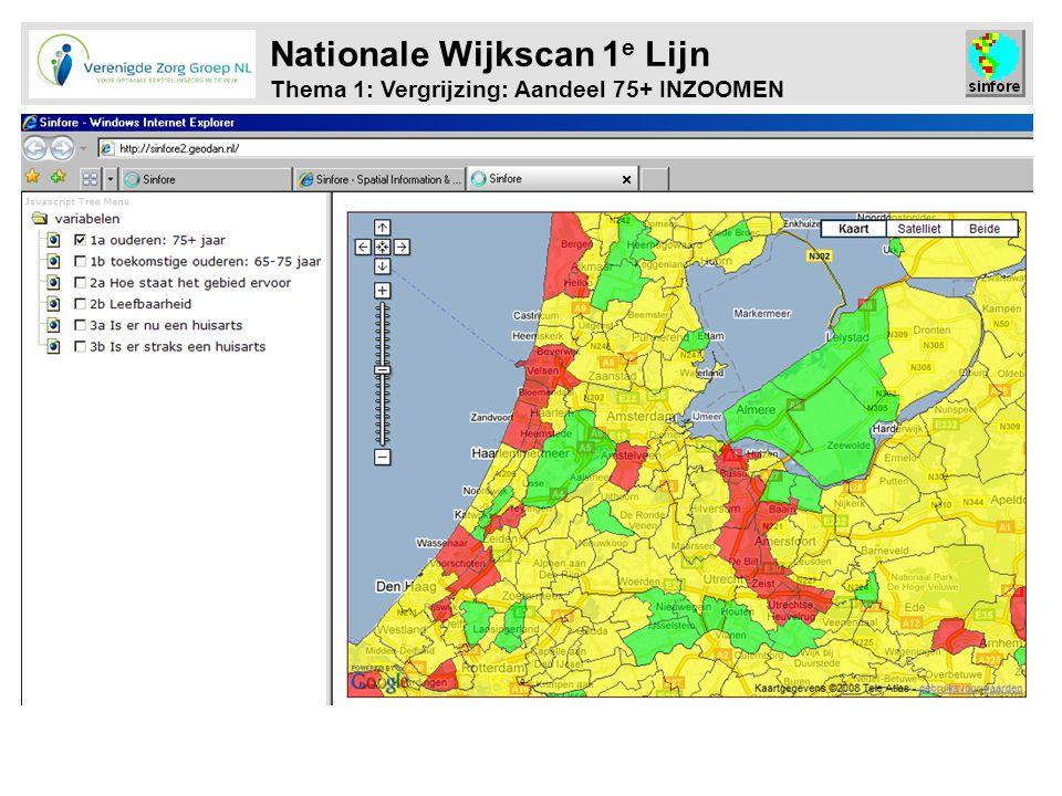Nationale Wijkscan 1e Lijn Thema 1: Vergrijzing: Aandeel 75+ INZOOMEN