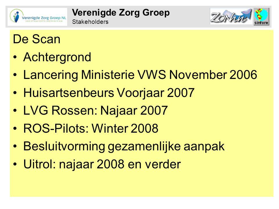 Lancering Ministerie VWS November 2006 Huisartsenbeurs Voorjaar 2007