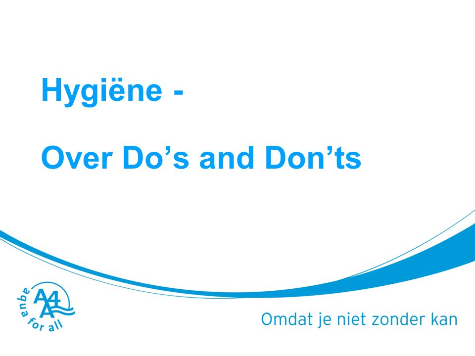 Programma 14.10 – 15.00 : Wat is hygiёne