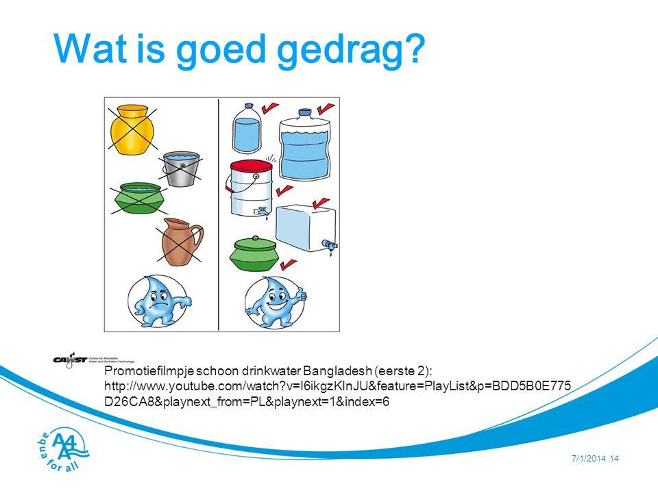 Wat is goed gedrag Om veilige opslag te kunnen garanderen dienen watercontainers aan de volgende criteria te voldoen: