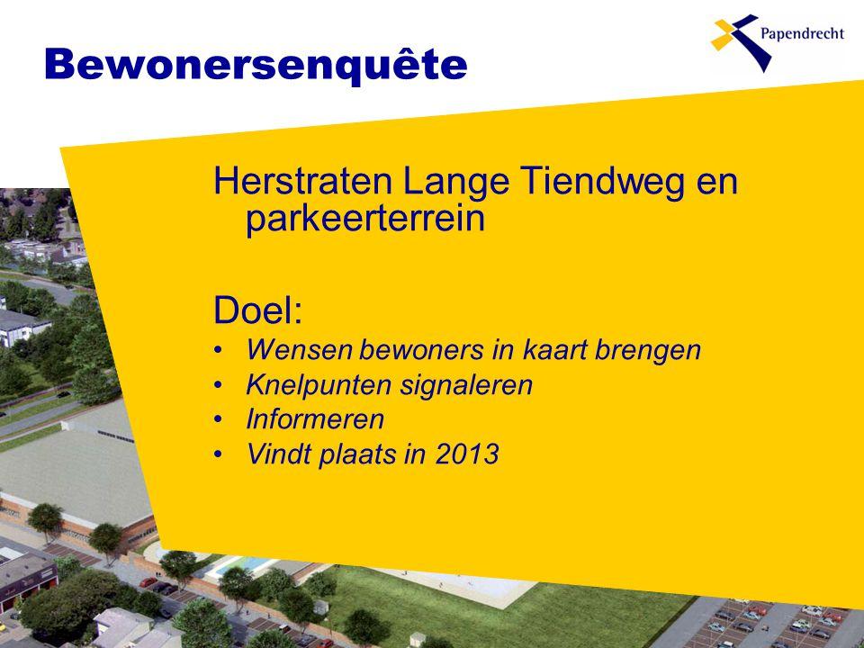 Bewonersenquête Herstraten Lange Tiendweg en parkeerterrein Doel: