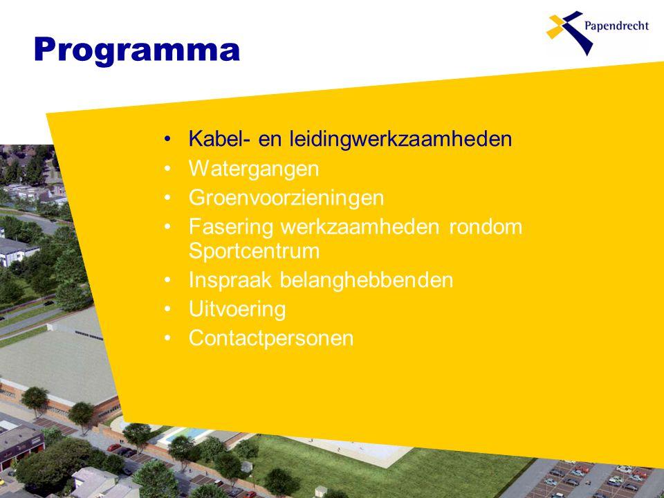Programma Kabel- en leidingwerkzaamheden Watergangen