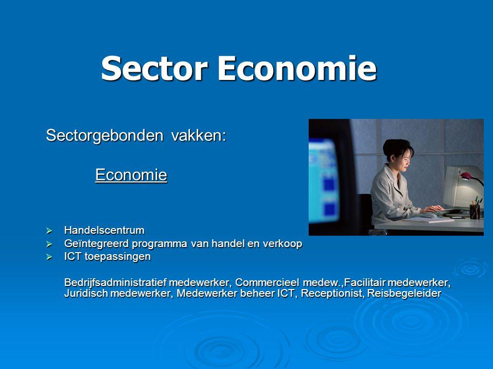 Sector Economie Sectorgebonden vakken: Economie Handelscentrum
