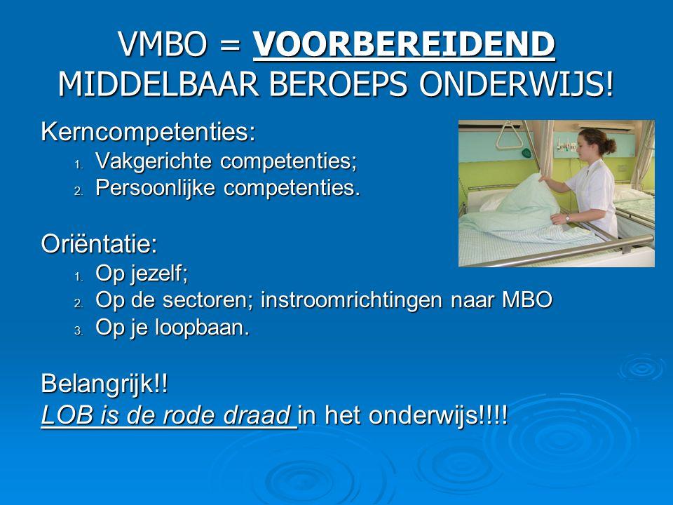VMBO = VOORBEREIDEND MIDDELBAAR BEROEPS ONDERWIJS!