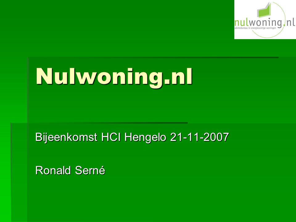 Bijeenkomst HCI Hengelo 21-11-2007 Ronald Serné