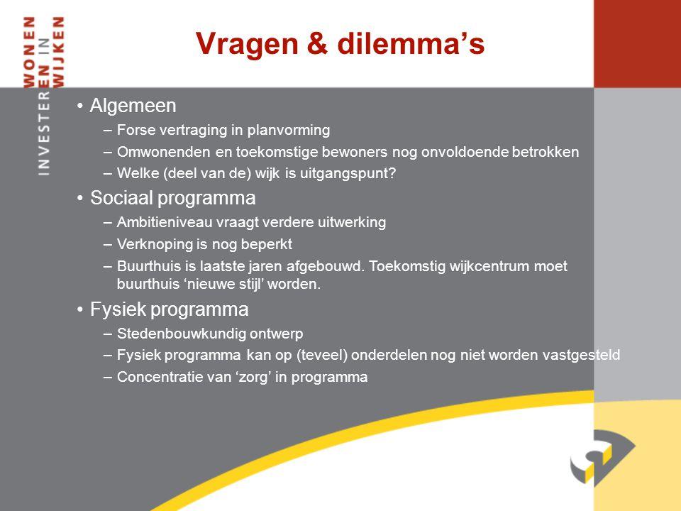 Vragen & dilemma's Algemeen Sociaal programma Fysiek programma
