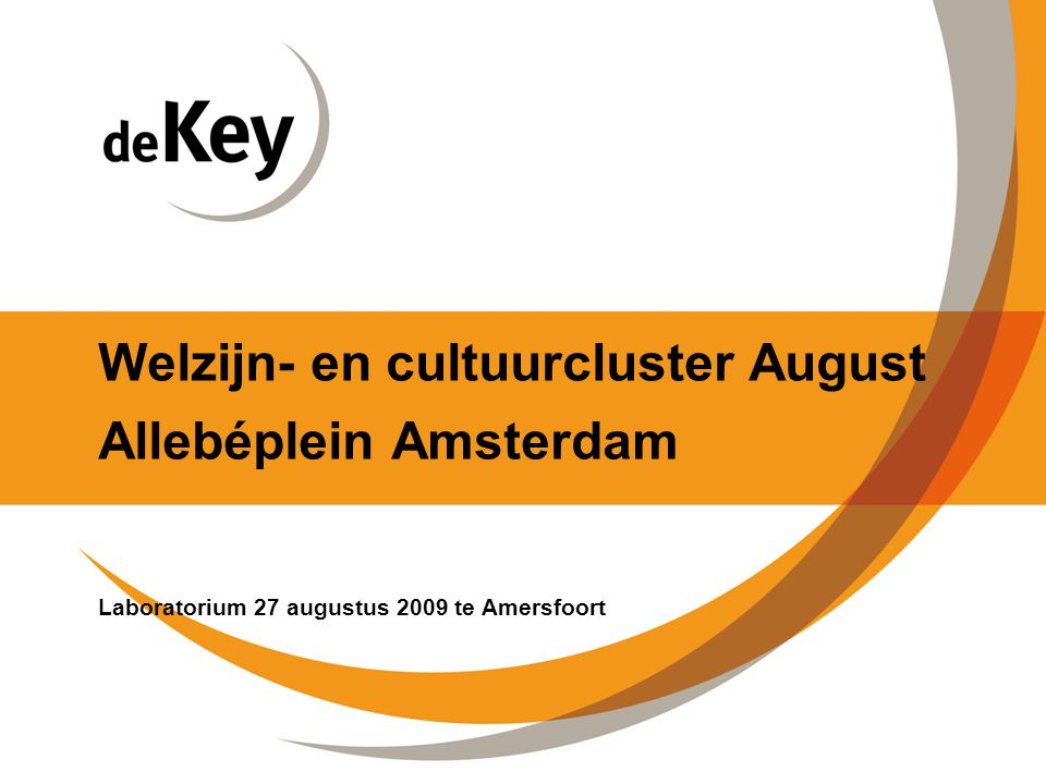 Welzijn- en cultuurcluster August Allebéplein Amsterdam