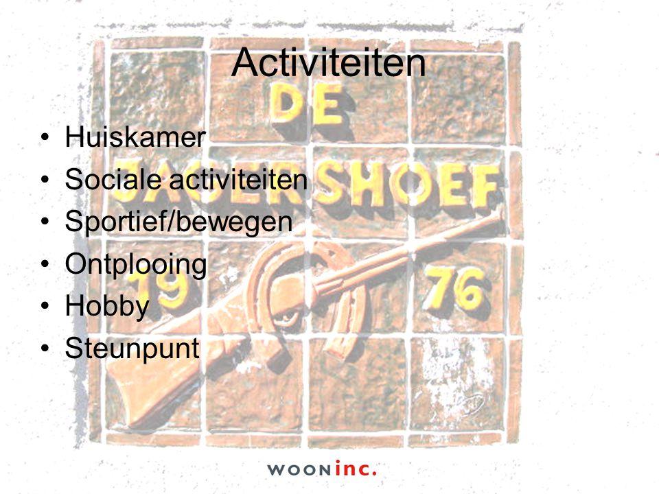Activiteiten Huiskamer Sociale activiteiten Sportief/bewegen