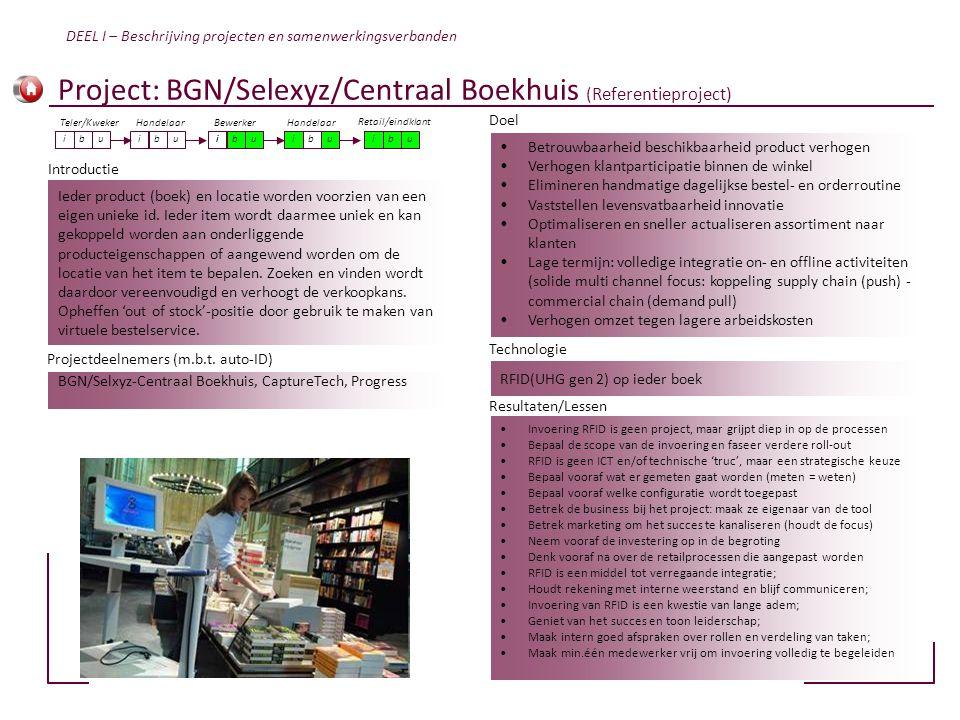 Project: BGN/Selexyz/Centraal Boekhuis (Referentieproject)