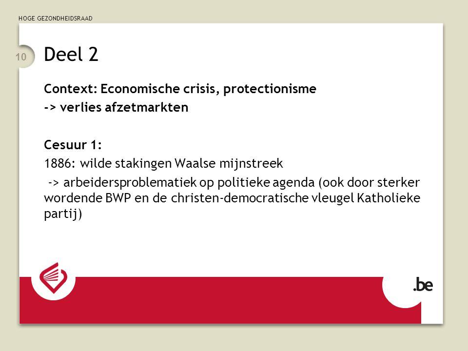 Deel 2 Context: Economische crisis, protectionisme