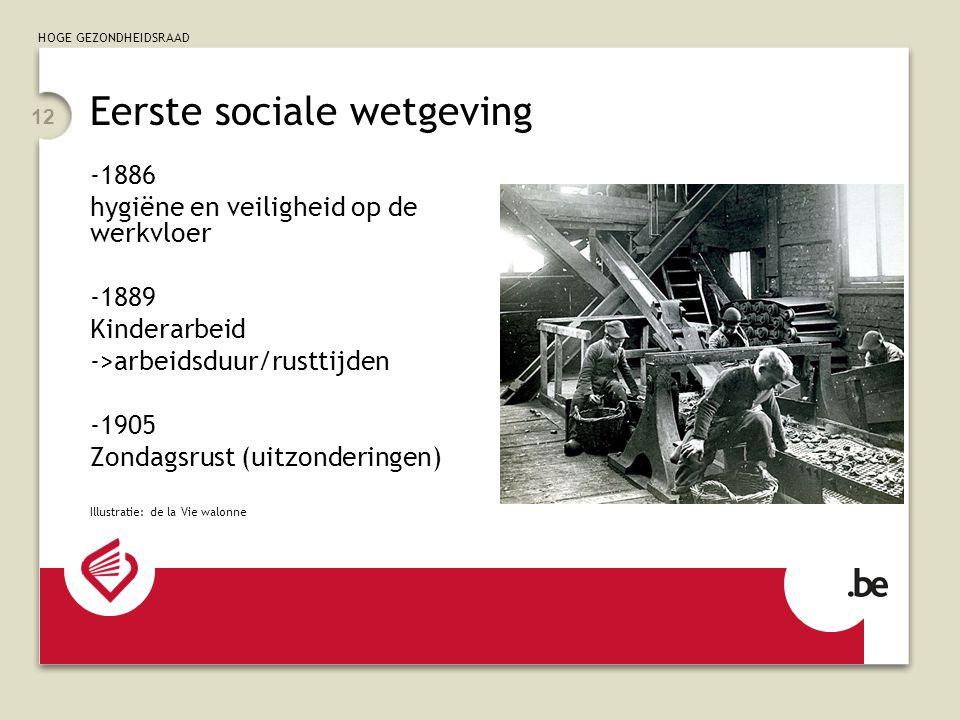 Eerste sociale wetgeving