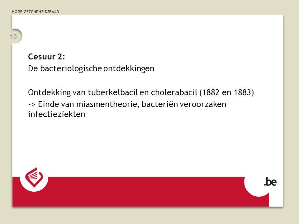Cesuur 2: De bacteriologische ontdekkingen. Ontdekking van tuberkelbacil en cholerabacil (1882 en 1883)