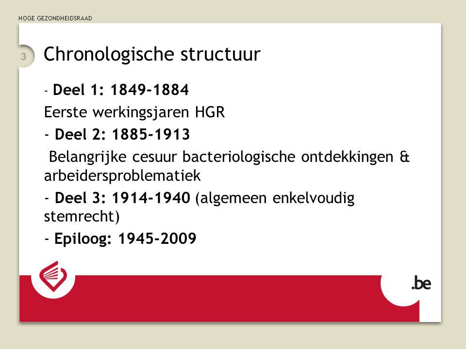 Chronologische structuur