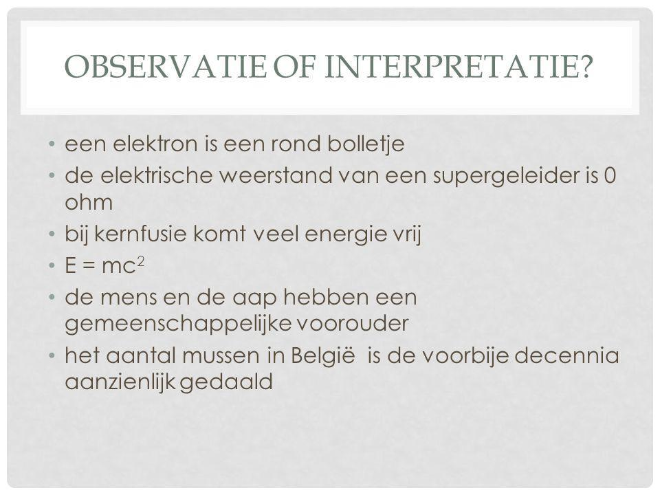 Observatie of interpretatie