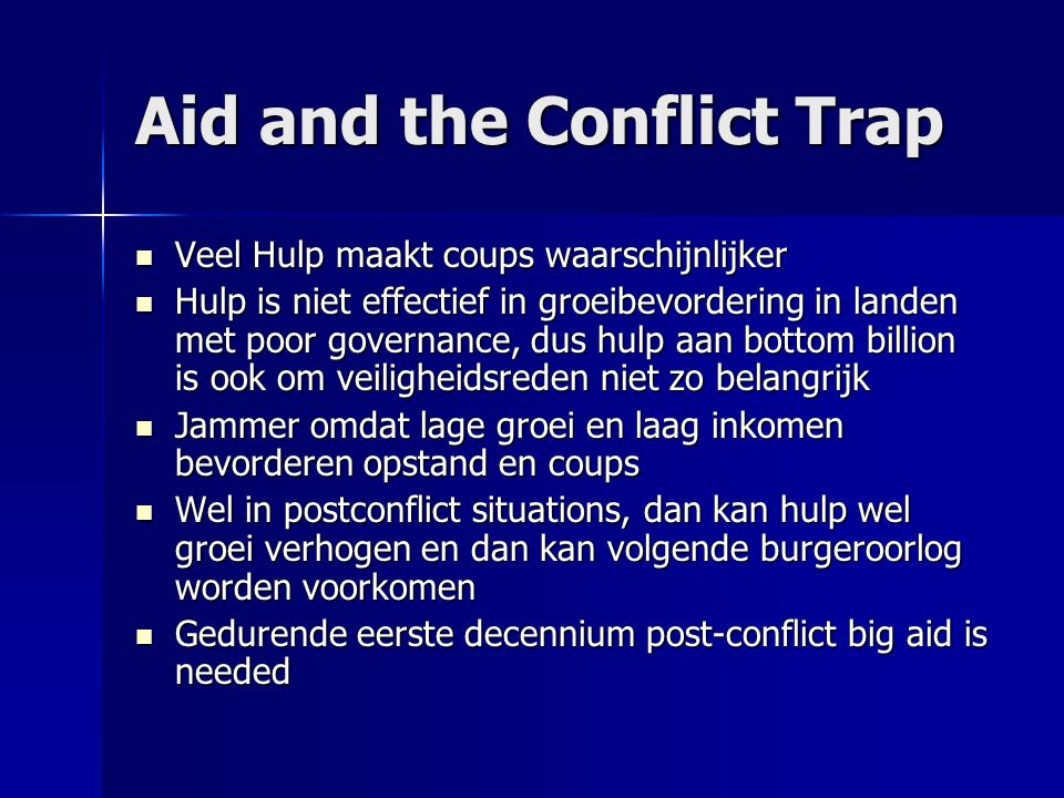 Aid and the Conflict Trap