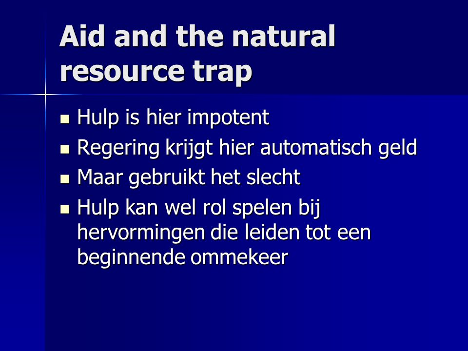 Aid and the natural resource trap
