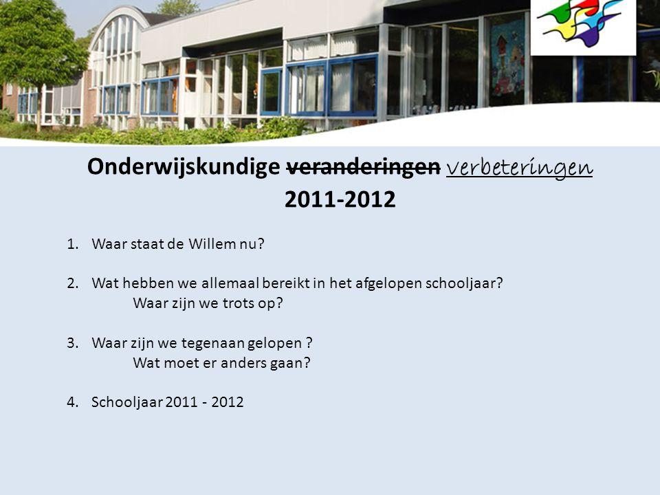 Onderwijskundige veranderingen verbeteringen 2011-2012