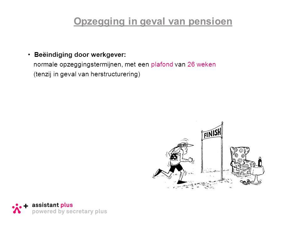 Opzegging in geval van pensioen