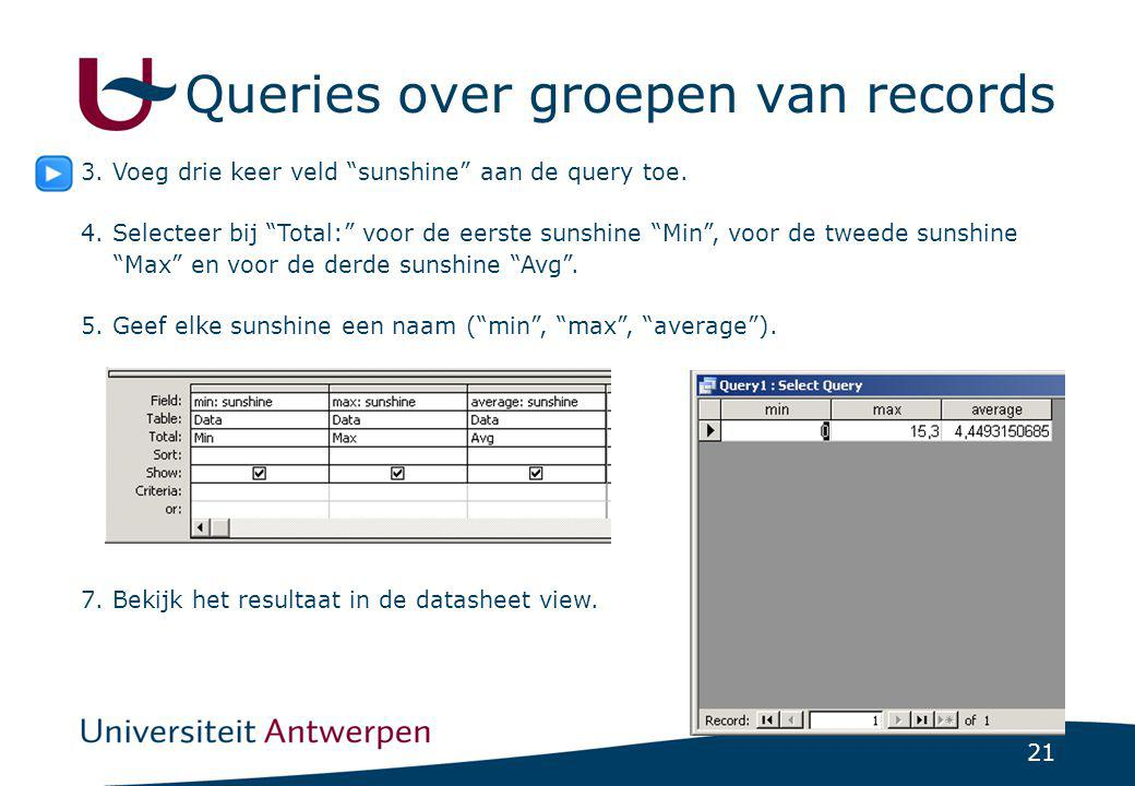 Queries over groepen van records