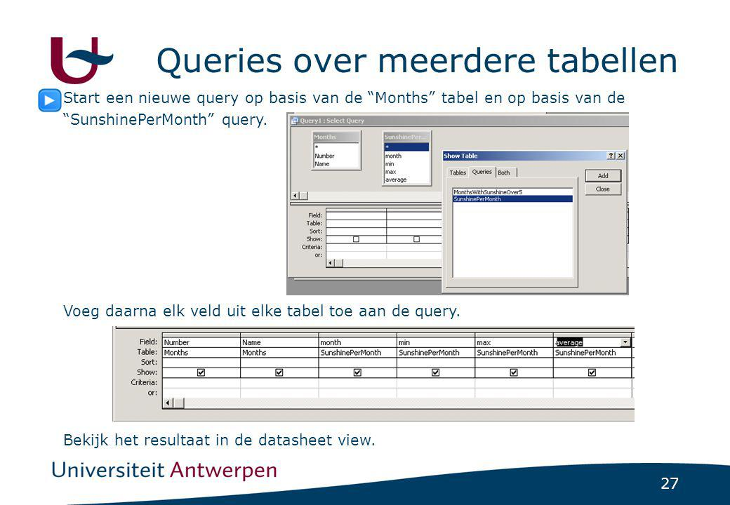 Queries over meerdere tabellen