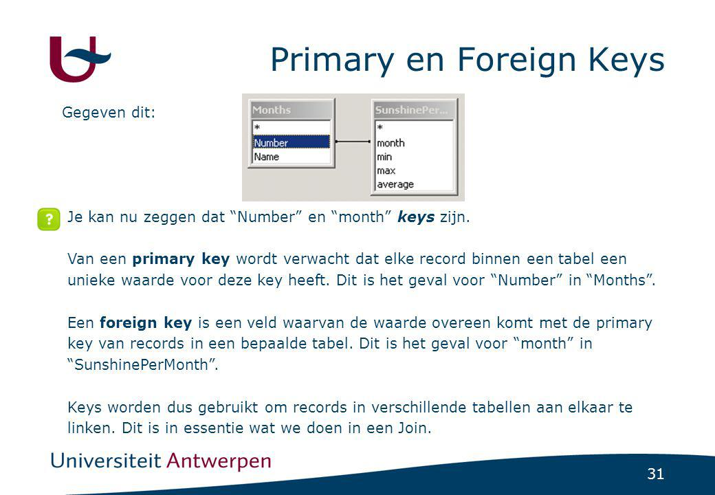 Primary en Foreign Keys