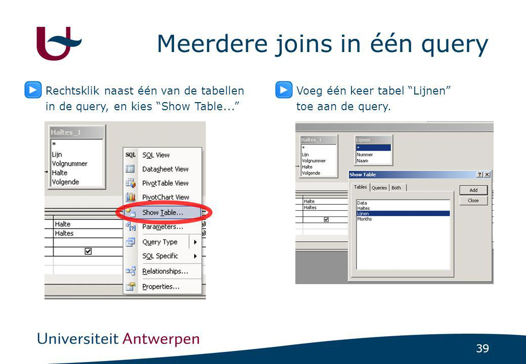 Meerdere joins in één query