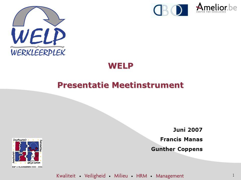 WELP Presentatie Meetinstrument