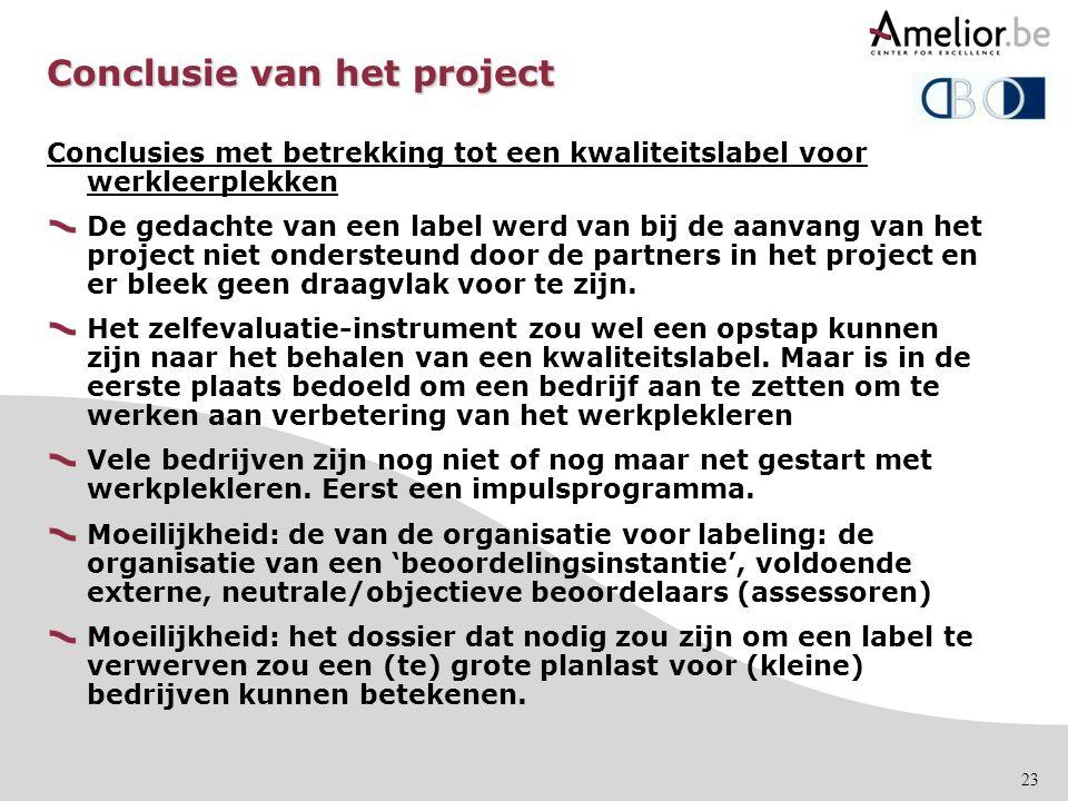 Conclusie van het project