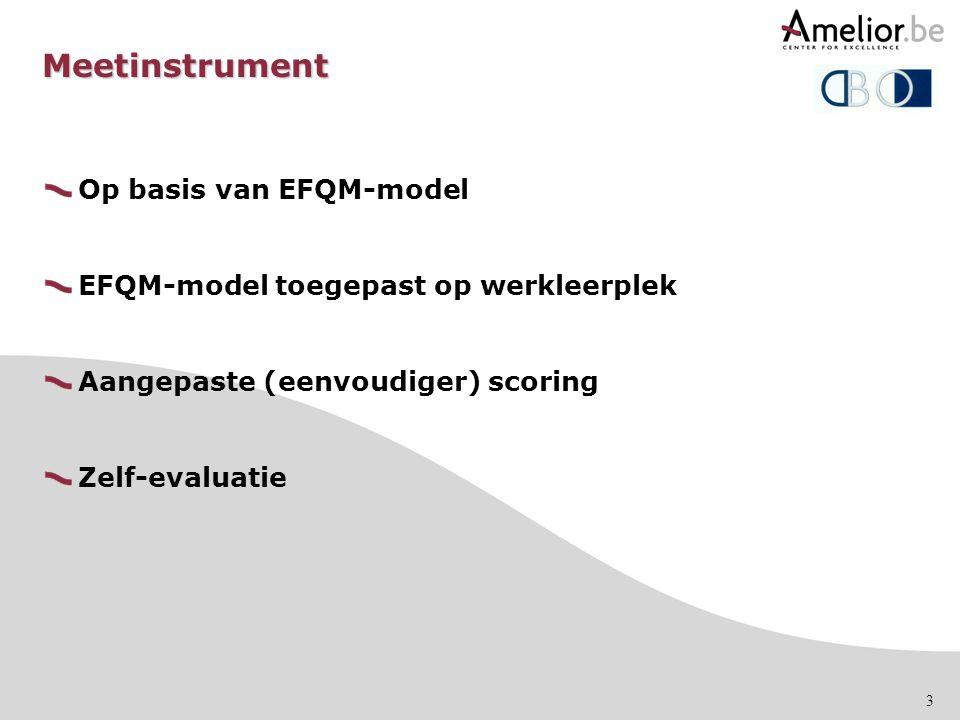 Meetinstrument Op basis van EFQM-model