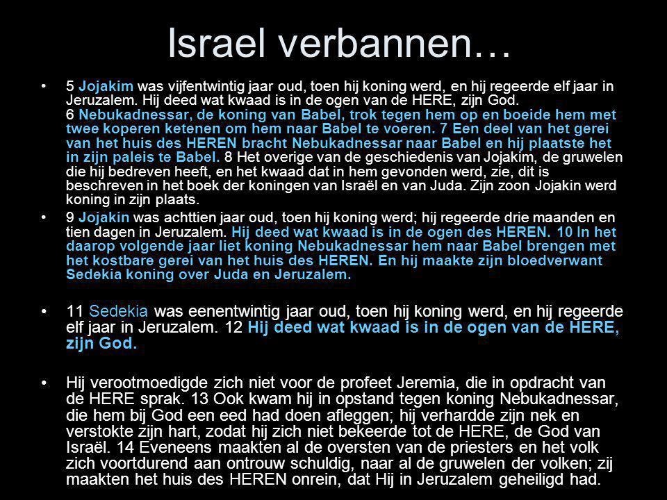 Israel verbannen…