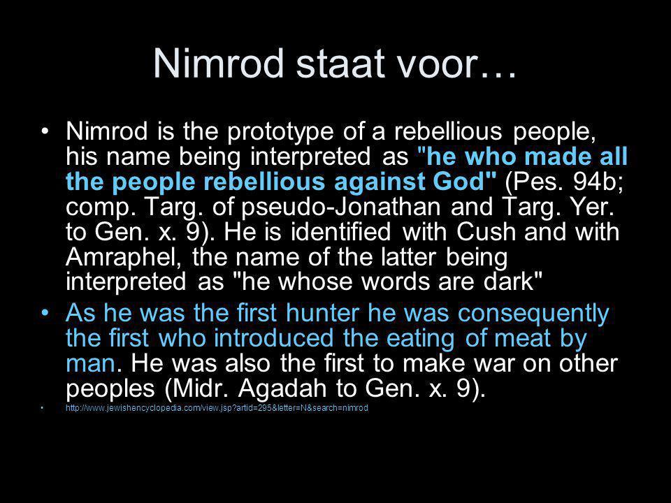 Nimrod staat voor…