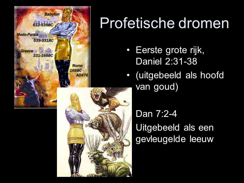 Profetische dromen Eerste grote rijk, Daniel 2:31-38
