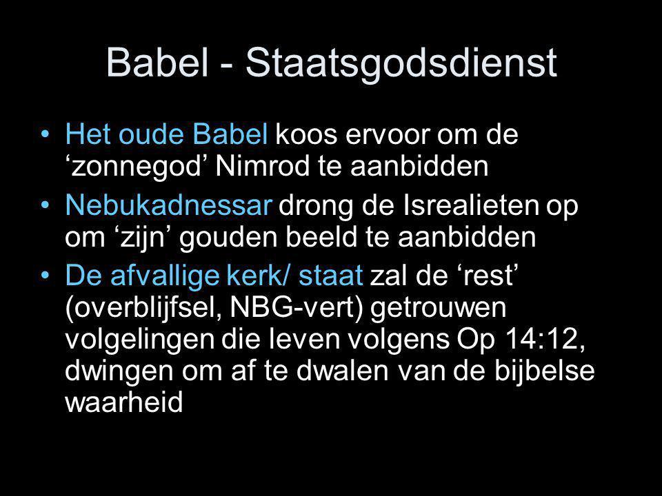 Babel - Staatsgodsdienst