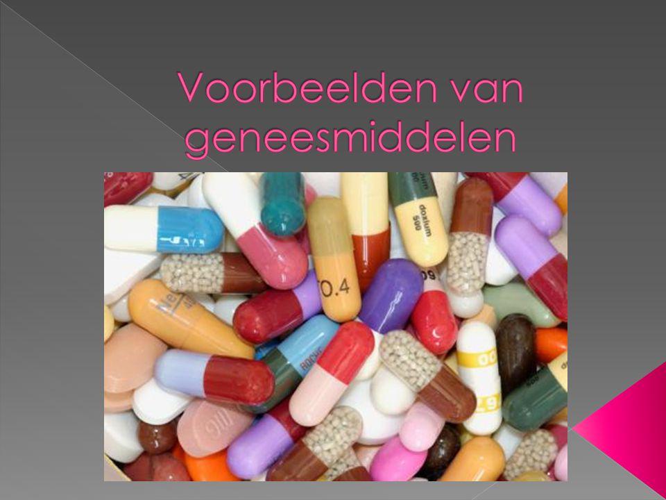 Voorbeelden van geneesmiddelen