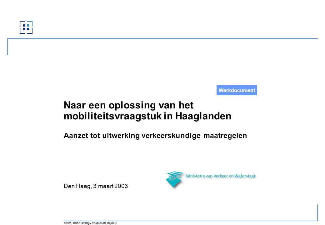 Naar een oplossing van het mobiliteitsvraagstuk in Haaglanden