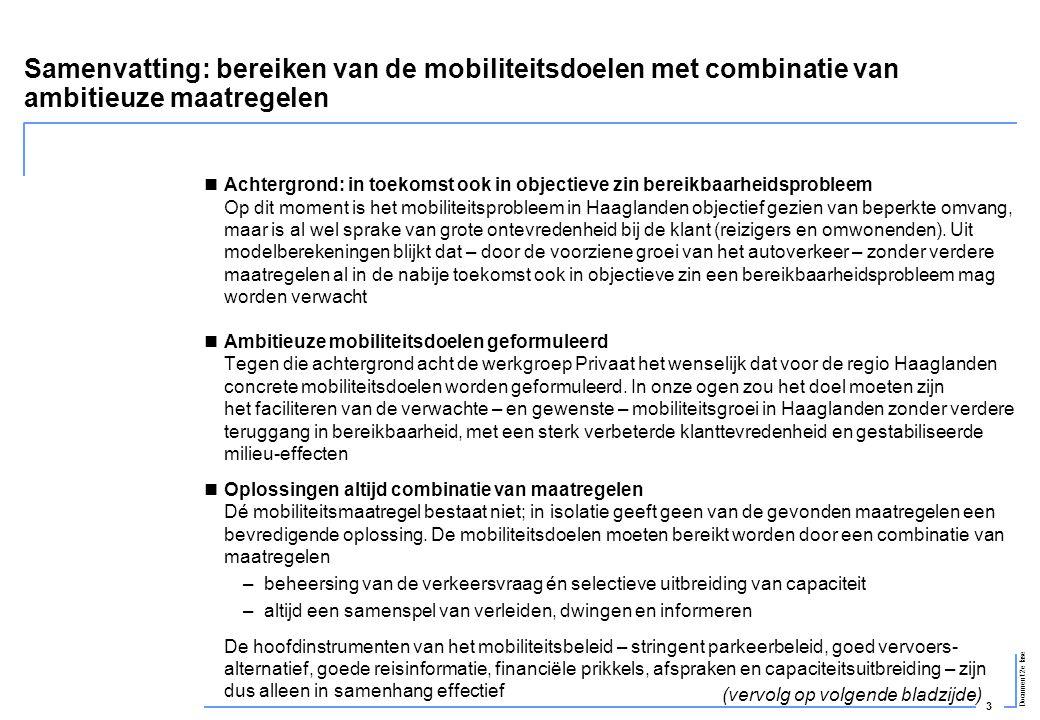 Samenvatting: bereiken van de mobiliteitsdoelen met combinatie van ambitieuze maatregelen