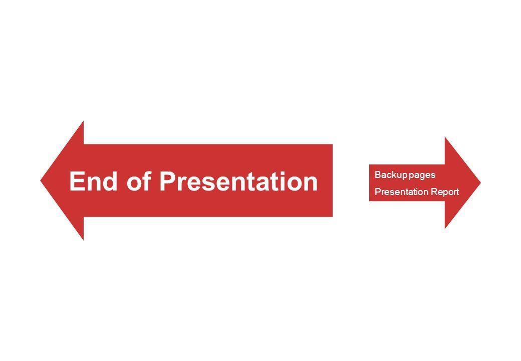 End of Presentation Backup pages Presentation Report