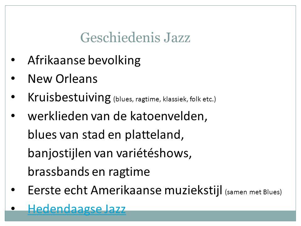 Geschiedenis Jazz Afrikaanse bevolking New Orleans