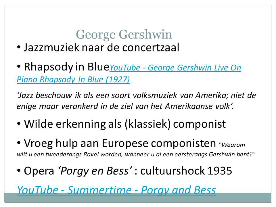 George Gershwin Jazzmuziek naar de concertzaal
