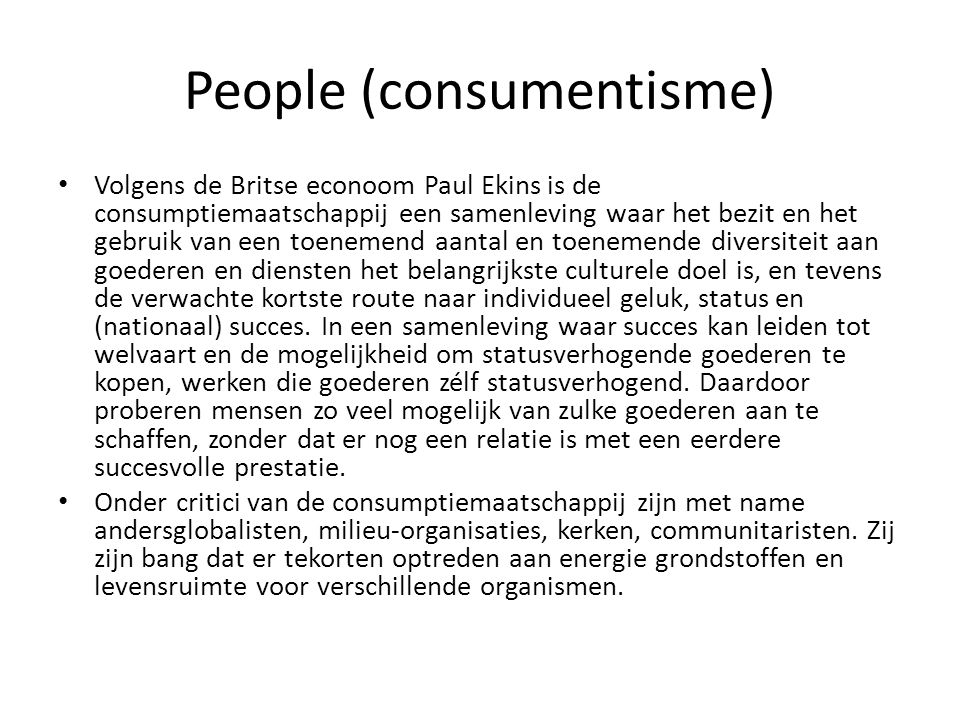 People (consumentisme)