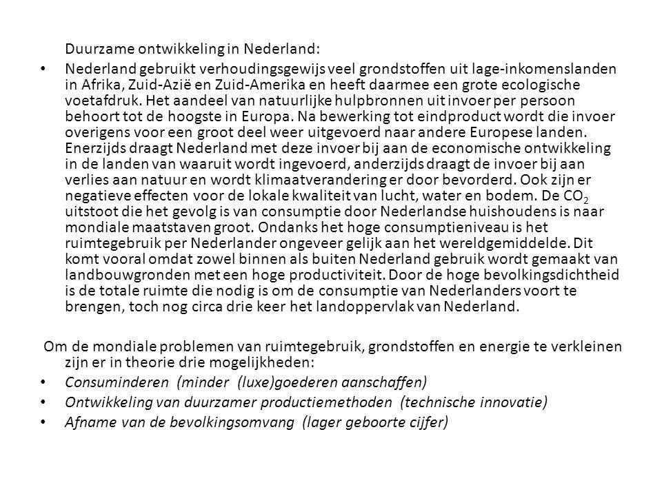 Duurzame ontwikkeling in Nederland: