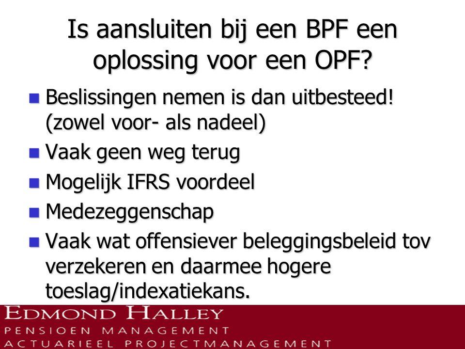 Is aansluiten bij een BPF een oplossing voor een OPF