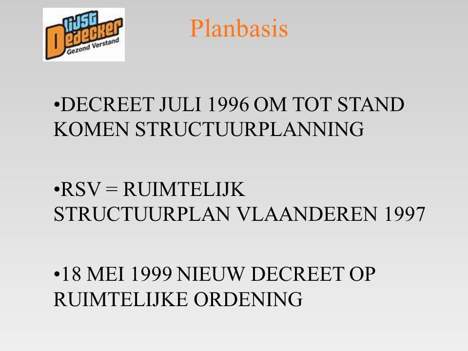 Planbasis DECREET JULI 1996 OM TOT STAND KOMEN STRUCTUURPLANNING