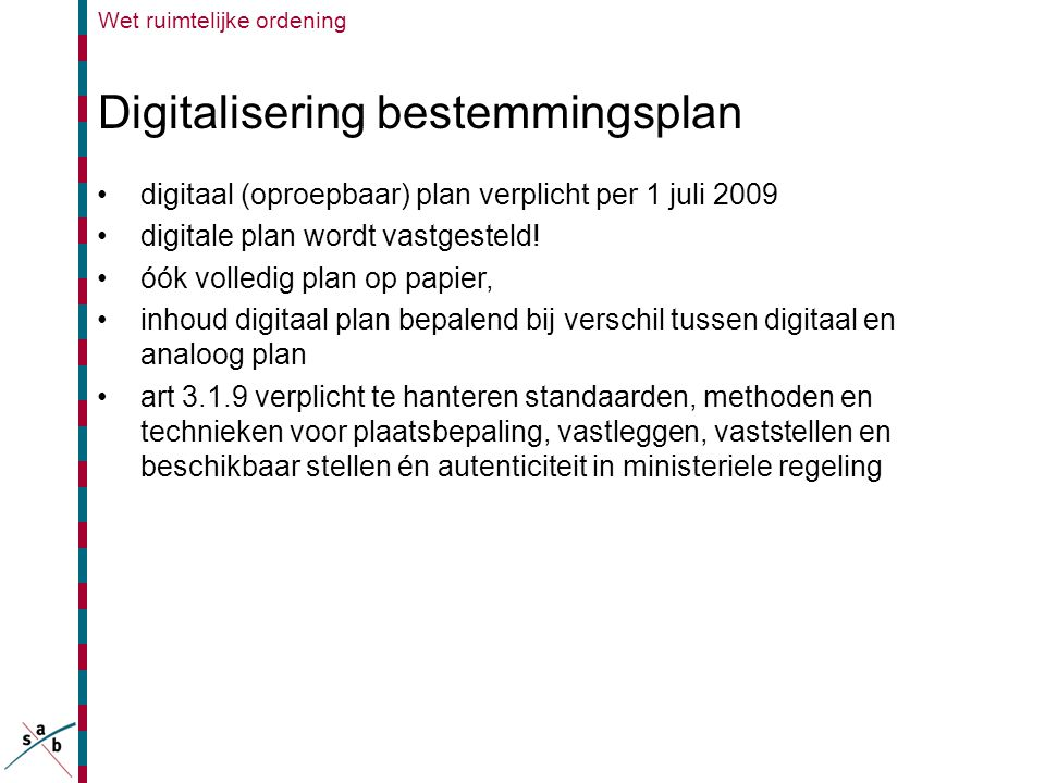 Digitalisering bestemmingsplan