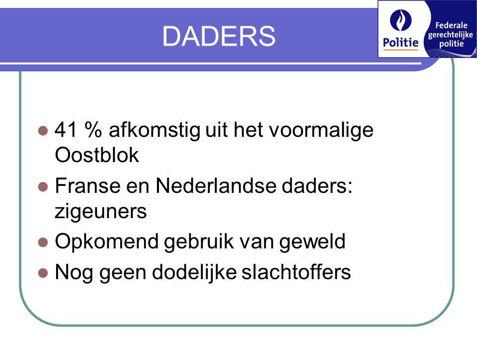 DADERS 41 % afkomstig uit het voormalige Oostblok