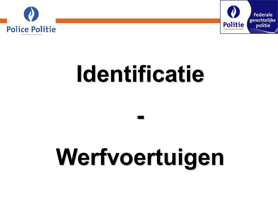 Identificatie - Werfvoertuigen