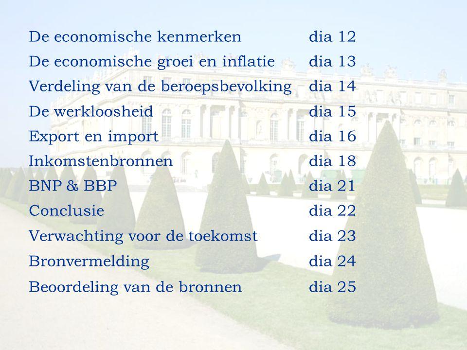 De economische kenmerken dia 12
