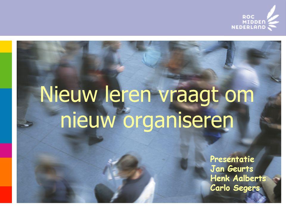 Nieuw leren vraagt om nieuw organiseren Presentatie Jan Geurts