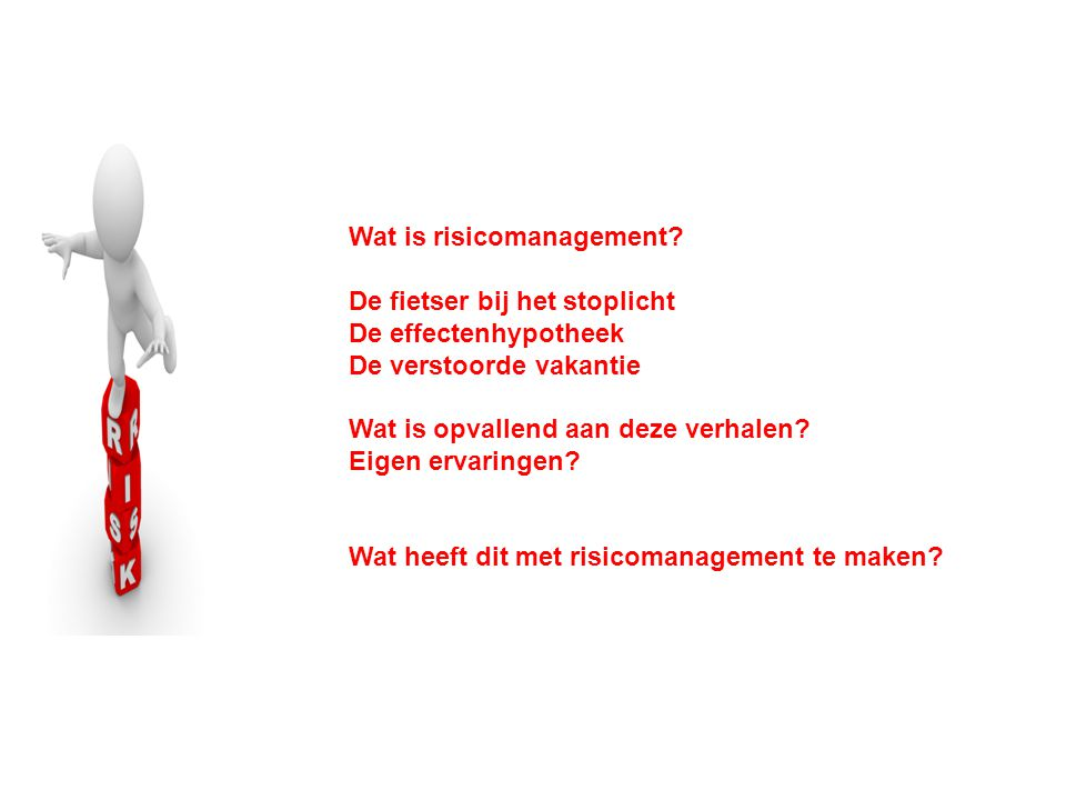 Wat is risicomanagement